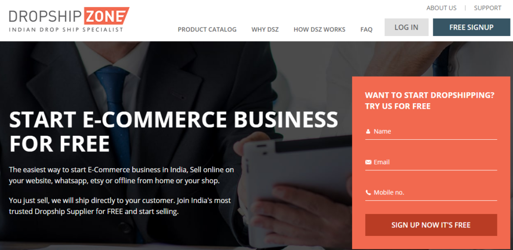 Dropshipzone dropshipping sites in india