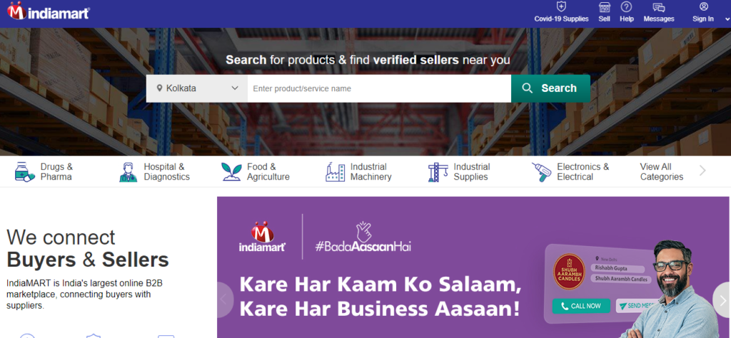 Indiamart dropshipping sites in india