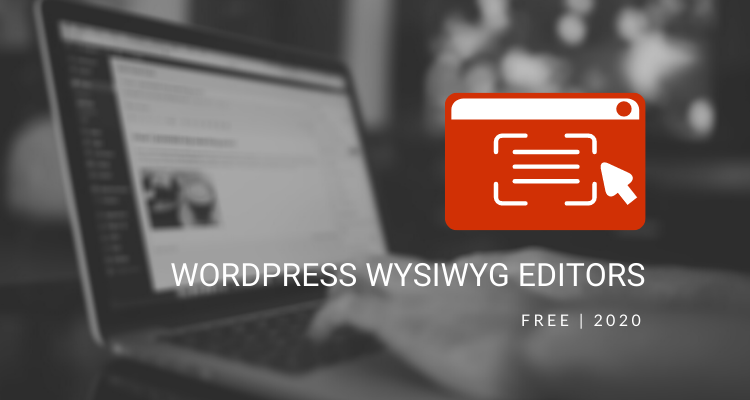 FREE WordPress WYSIWYG Editors