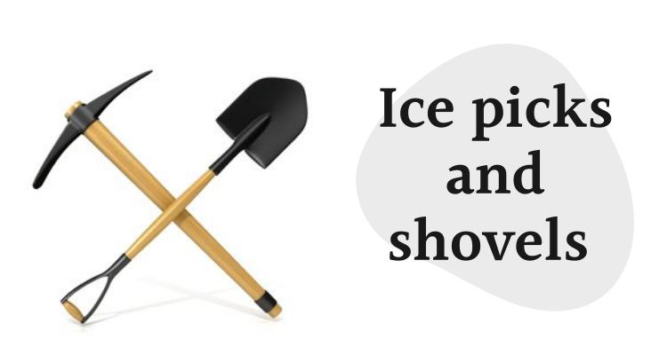 Ice picks and shovels dropshipping winter