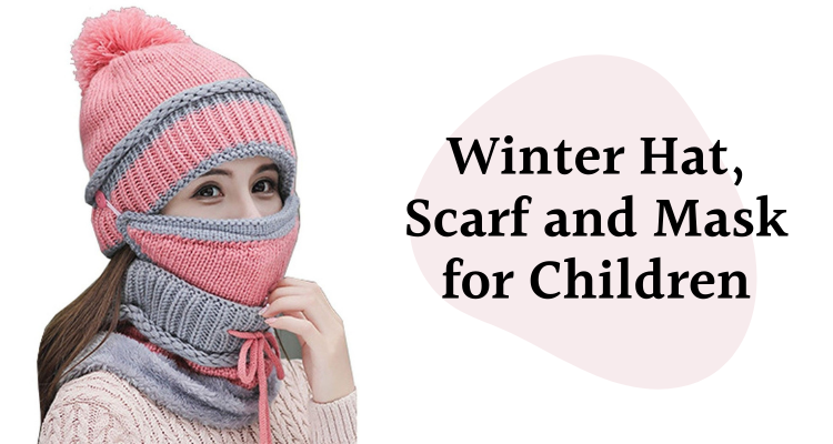 Winter Hat, Scarf and Mask for Children