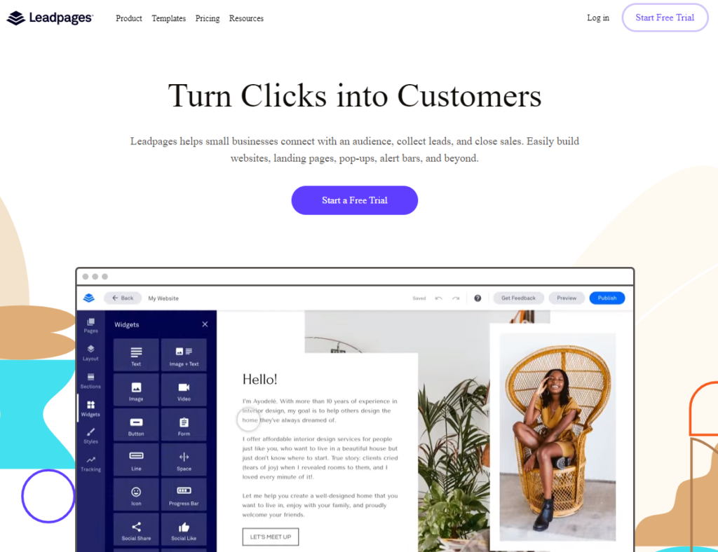 Leadpages landing page and optin builder