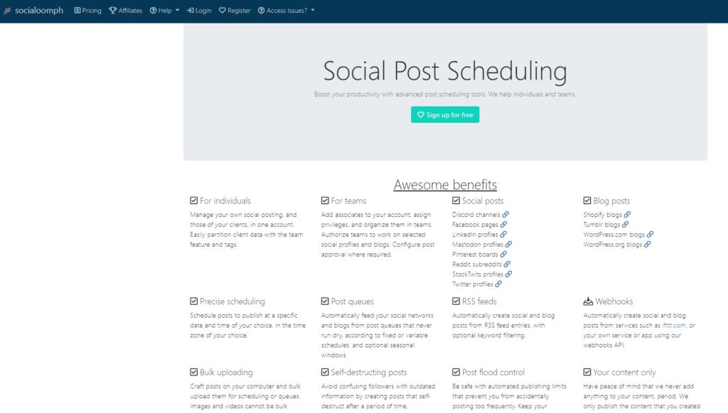 Social Oomph social media automation tools