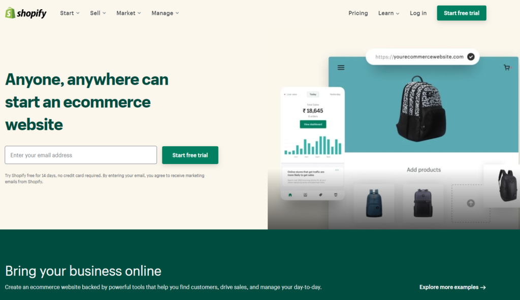 shopify dropshipping store builder