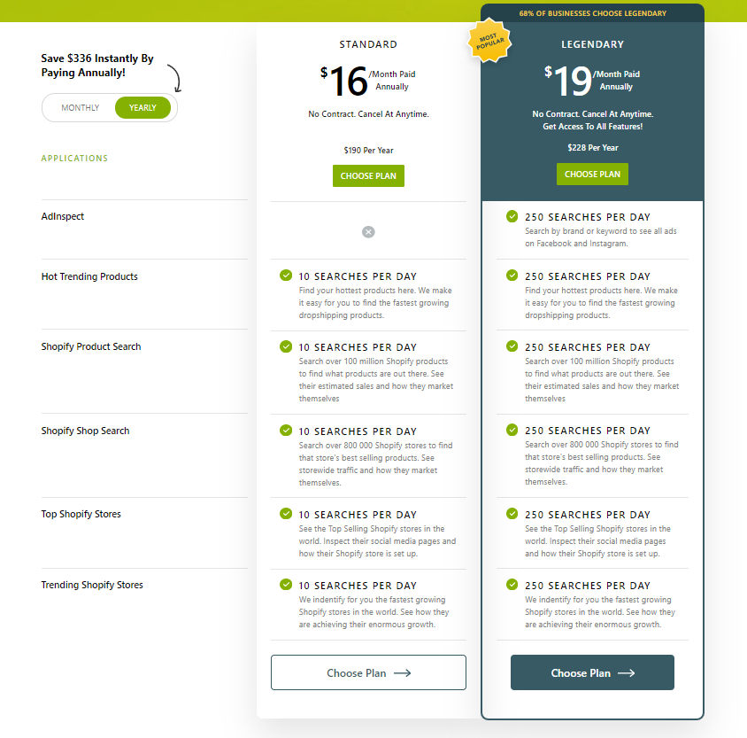 shopinspect pricing plans
