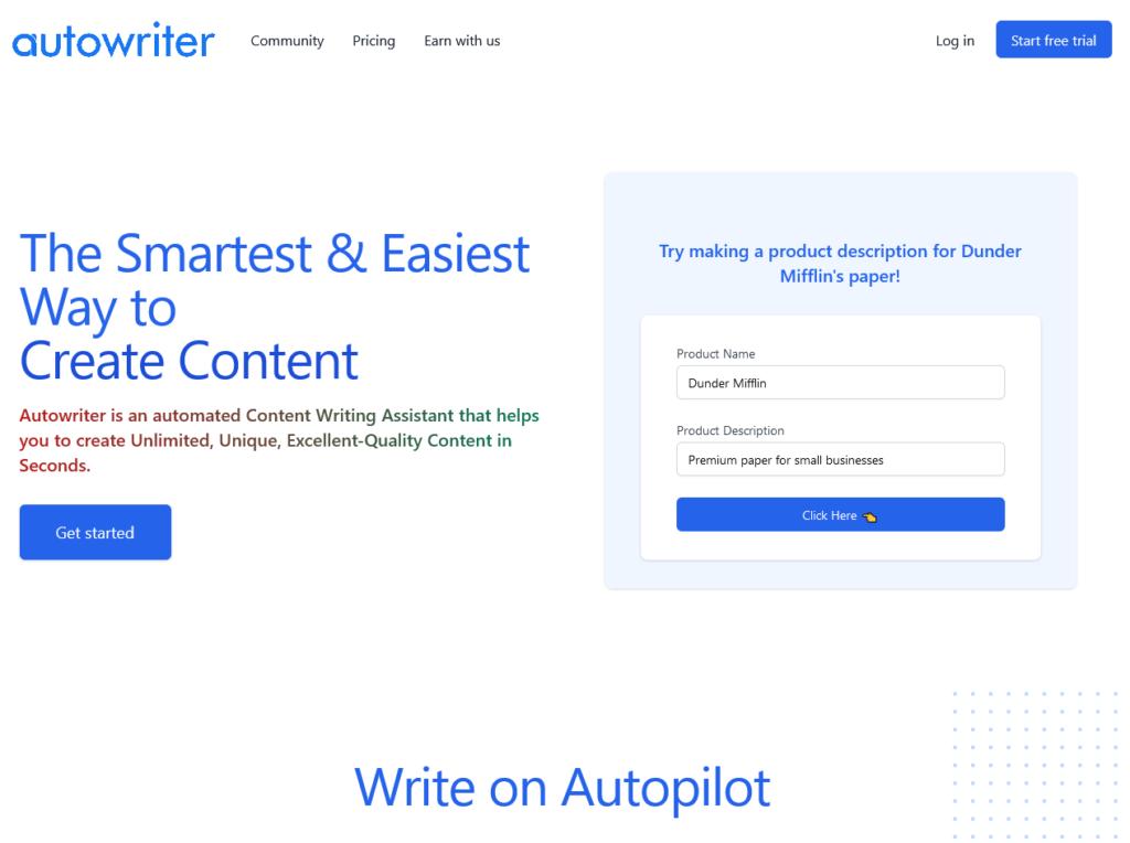 Autowriter description writing tools