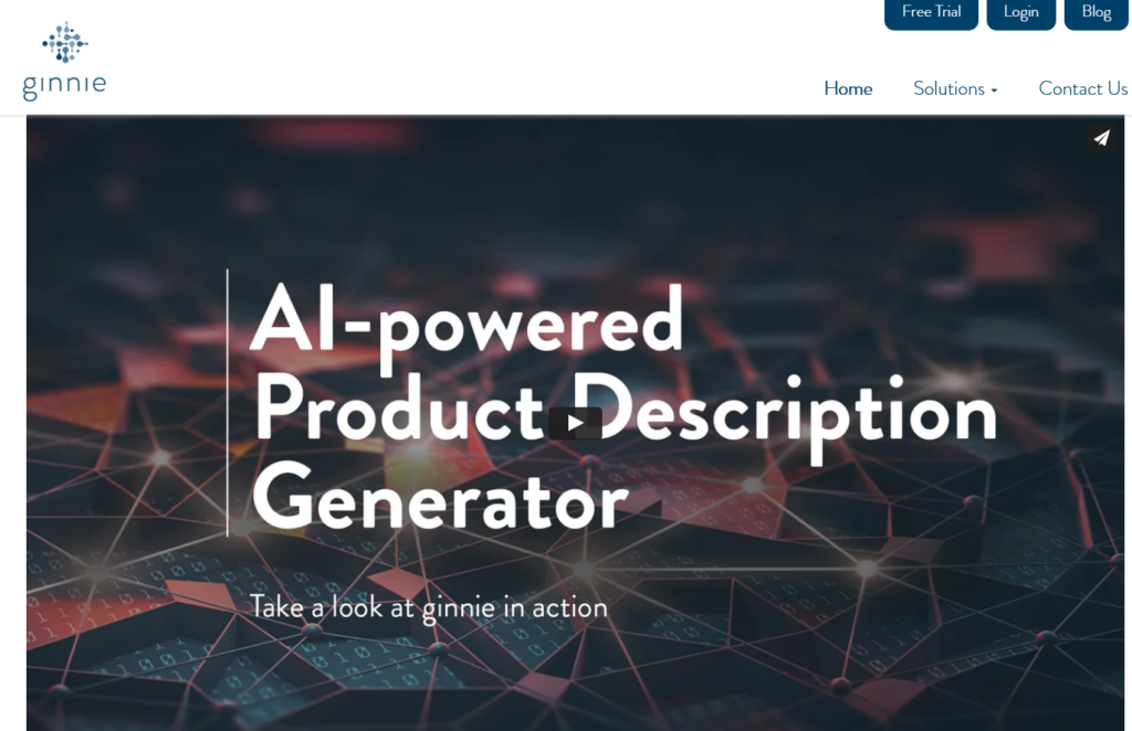 Ginnie product description writer tool