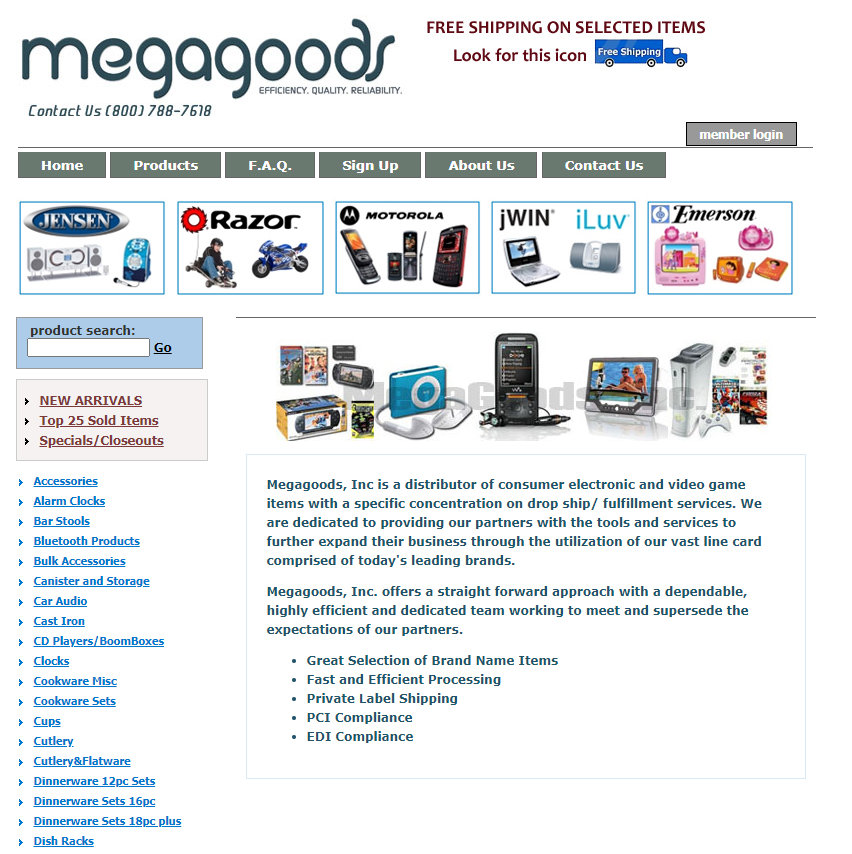 Megagoods dropshipper in america