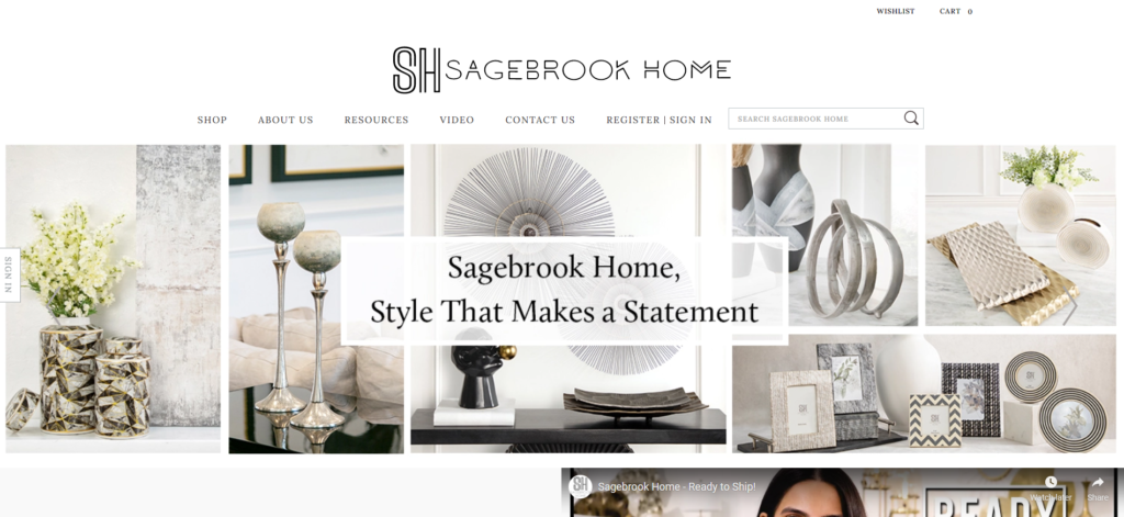 Sagebrook Home decor dropshipping supplier in the us