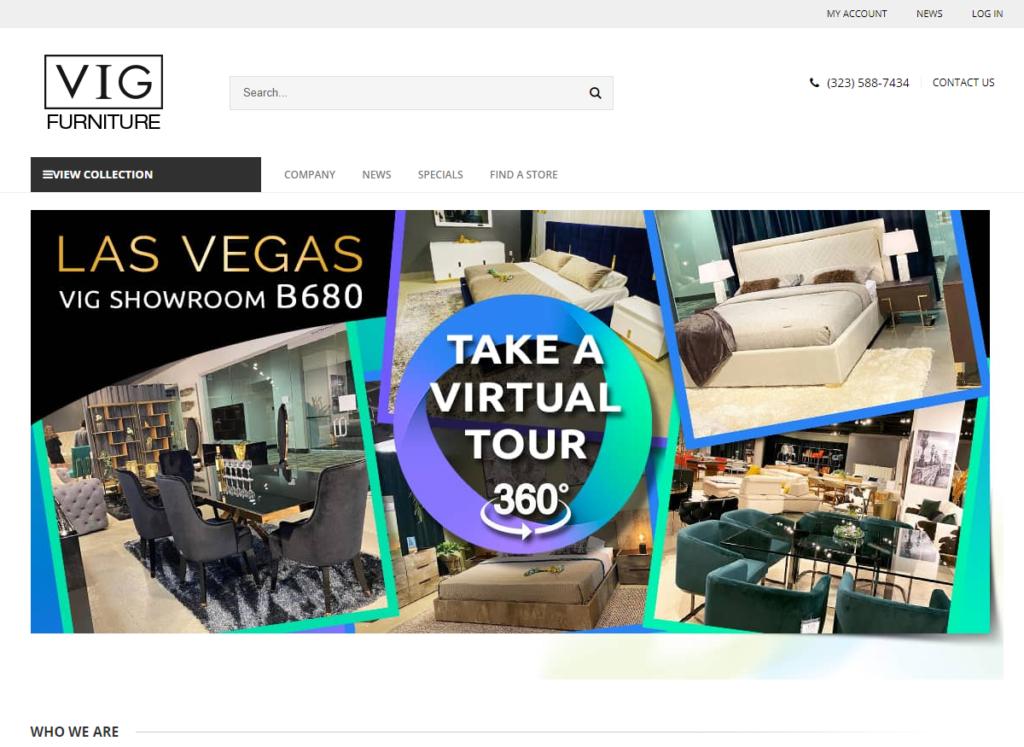 VIG Furniture furniture dropshipping supplier