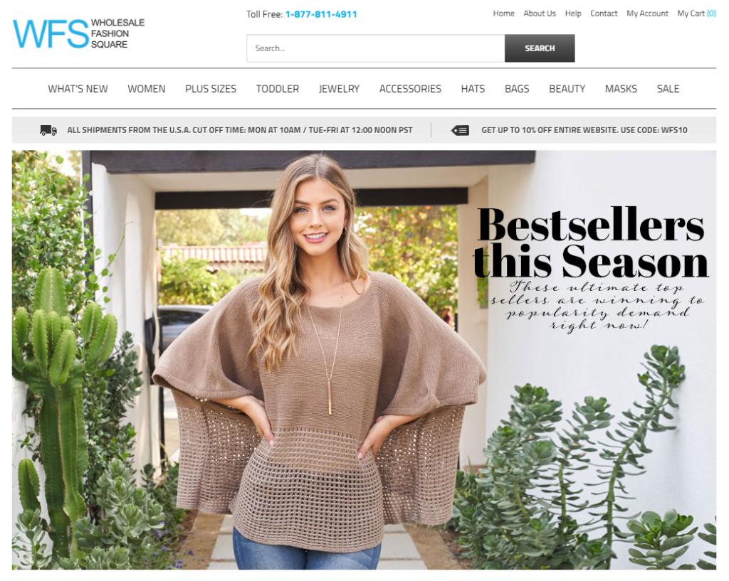 Wholesale Fashion Square us dropshipping company